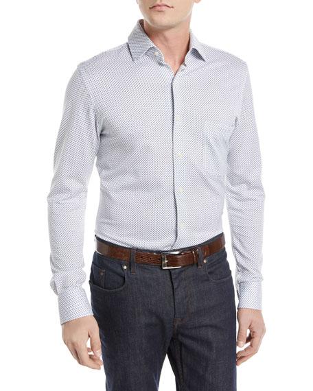 Peter Millar Ocean Spray Cotton Sport Shirt