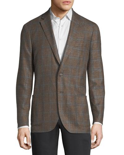 Crown Plaid Soft Jacket
