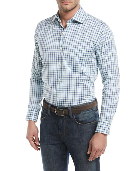 Peter Millar Crown Comfort Trinidad Check Sport Shirt