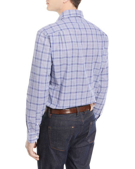 Seabound Chambray Plaid Sport Shirt