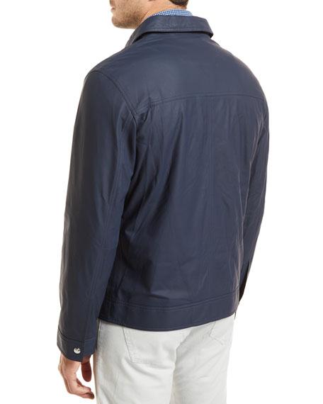 Maritime Matte Napa Leather Jacket