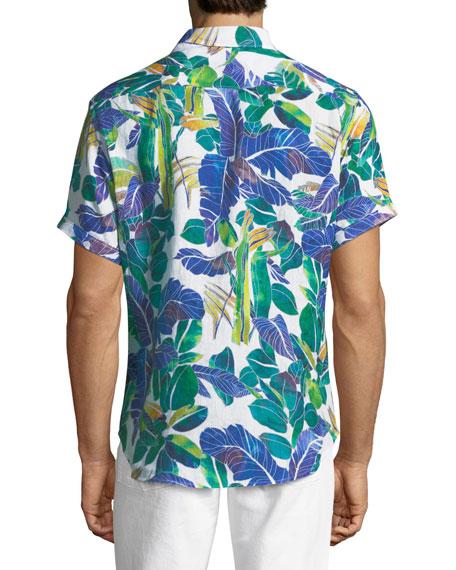 Dandus Short-Sleeve Linen Shirt