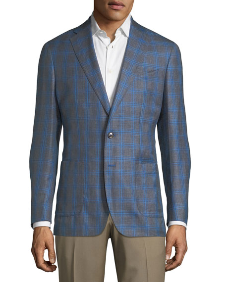 Peter Millar Marina Grande Windowpane Sport Coat