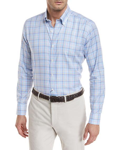 Peter Millar Jetty Woven Check Shirt