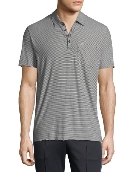 Vince Feeder Stripe Polo Shirt