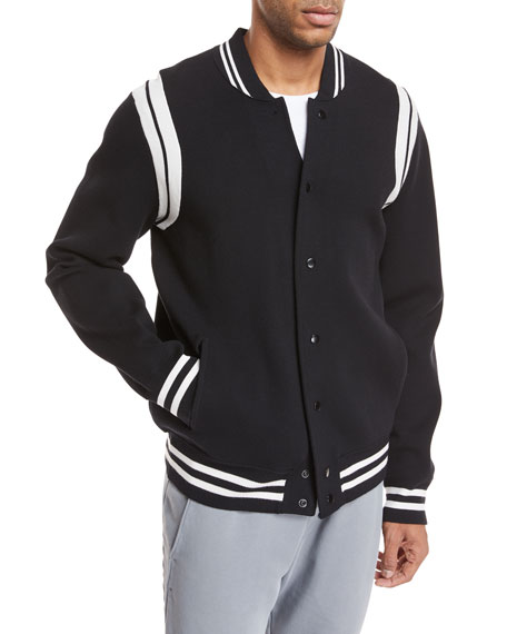 Vince Contrast-Trim Varsity Jacket and Matching Items