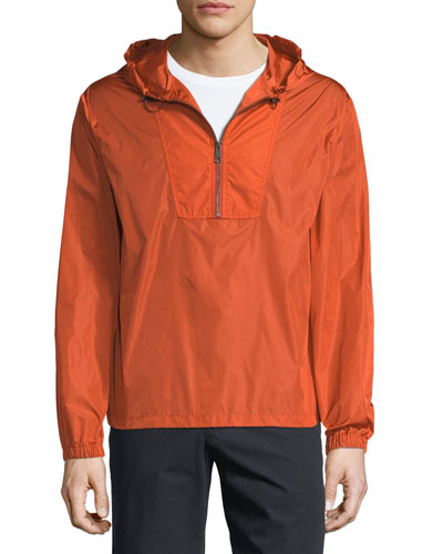 Hooded 1/4-Zip Anorak Jacket