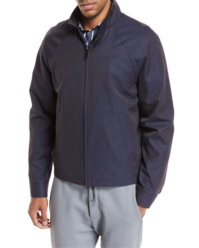 Stand-Collar Zip-Front Jacket