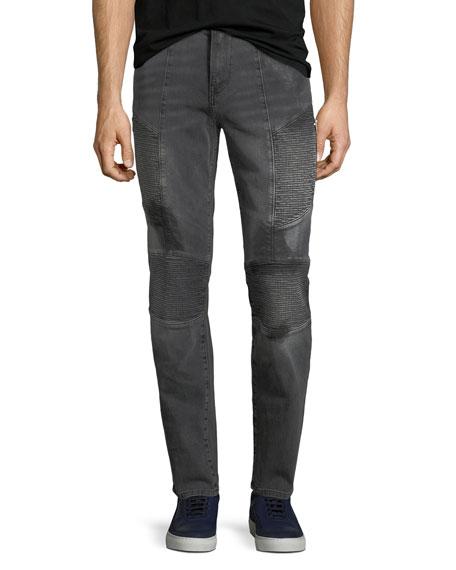 Rocco Moto Slim-Straight Jeans