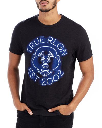 Neon Buddha Graphic T-Shirt