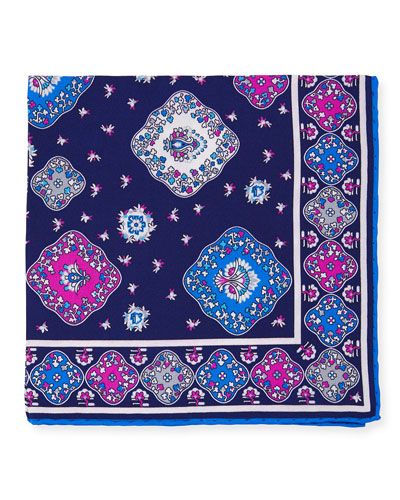 Moroccan Silk Pocket Square