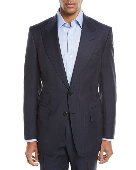 Windsor Melange Striped Two-Piece Wool Suit