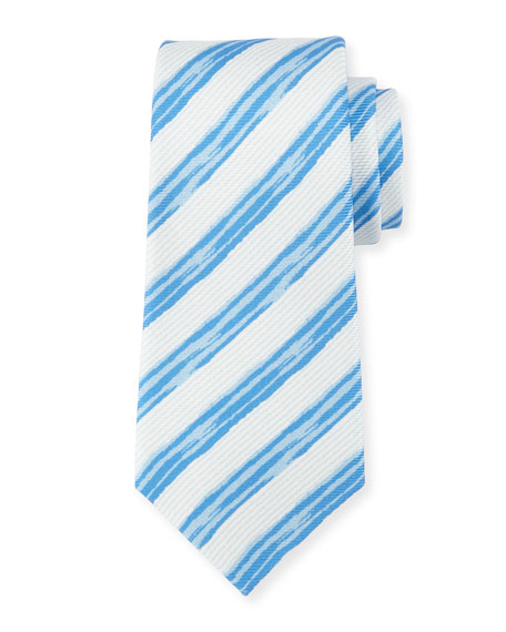 Kiton Painted Striped Silk Tie