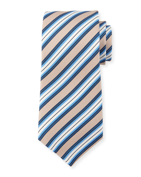 Kiton Multi-Stripe Silk Tie
