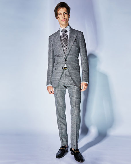 Shelton Large-Plaid Wool-Blend Two-Piece Suit