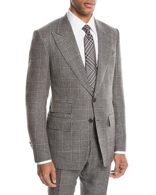 tom ford shelton large plaid wool blend two piece suit. Black Bedroom Furniture Sets. Home Design Ideas