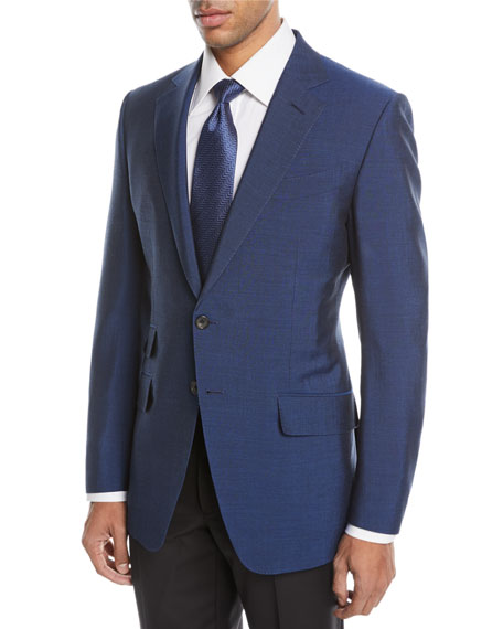 TOM FORD O'Connor Textured Wool-Blend Two-Button Jacket