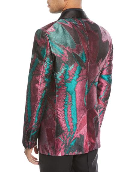Oil-Pattern Silk Dinner Jacket