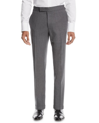 Fresco Textured Wool Trousers
