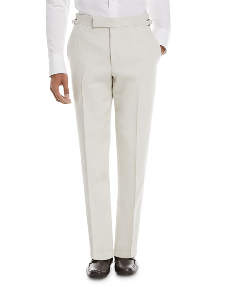 TOM FORD Solid Linen Trousers