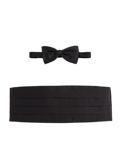 Silk Cummerbund & Bow Tie Set