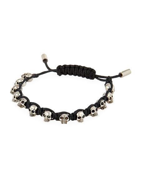 Alexander McQueen Men's Skull Bead Friendship Bracelet
