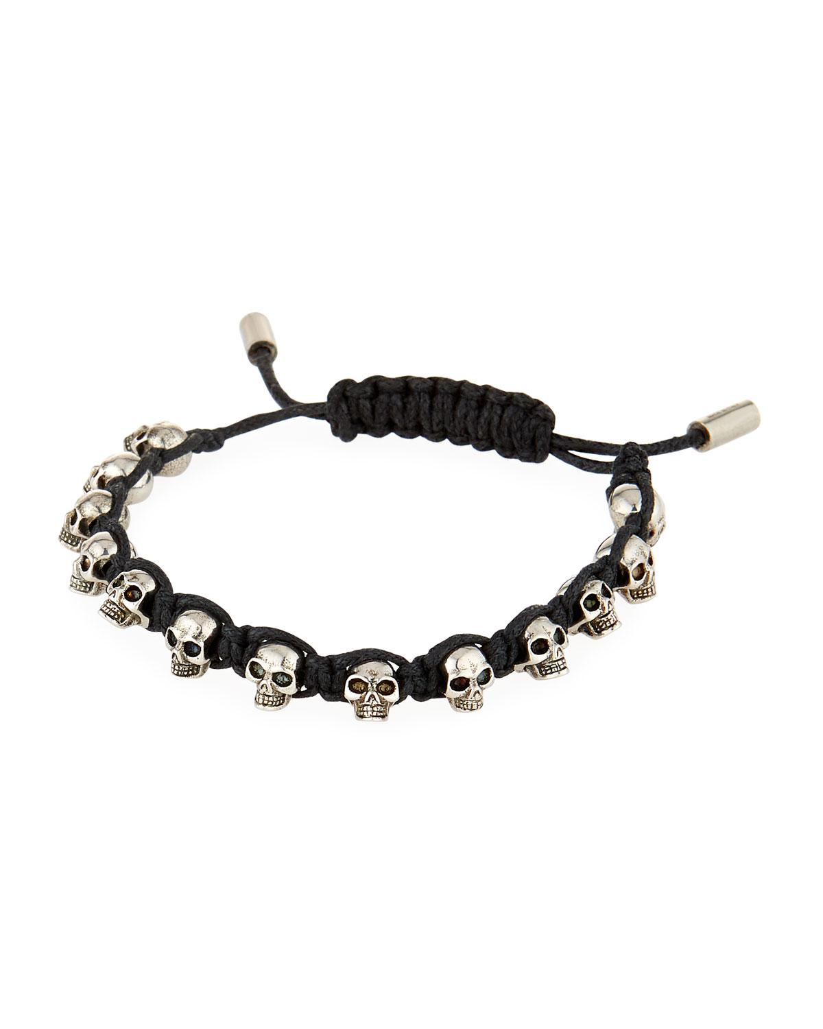 Men S Skull Bead Friendship Bracelet