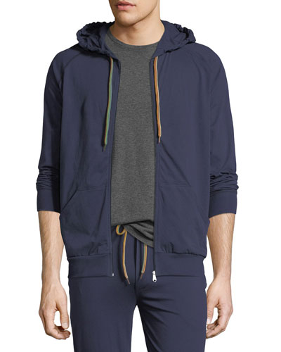 Zip-Front Hooded Sweater