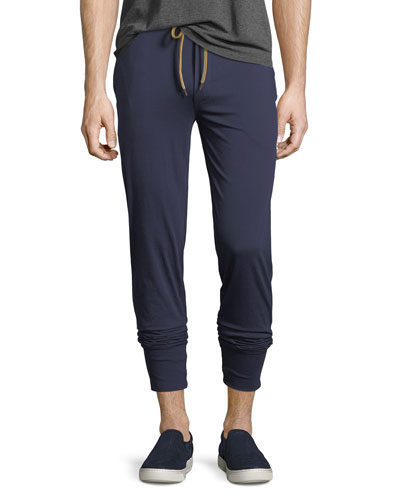 Tapered-Leg Jersey Pants