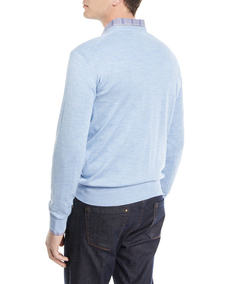 Wool-Silk V-Neck Sweater