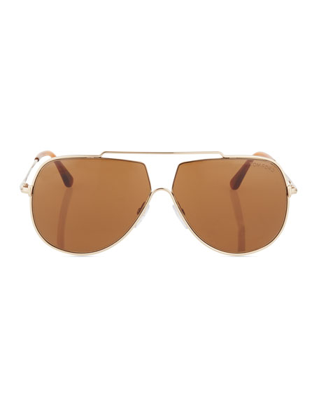 Chase Double-Bar Aviator Sunglasses