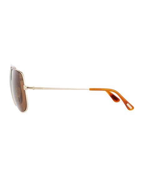 Chase Double-Bar Aviator Sunglasses