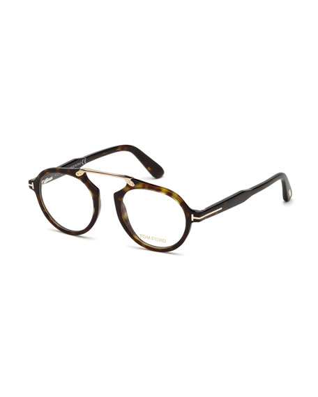 TOM FORD Havana Optical Bridgeless Glasses