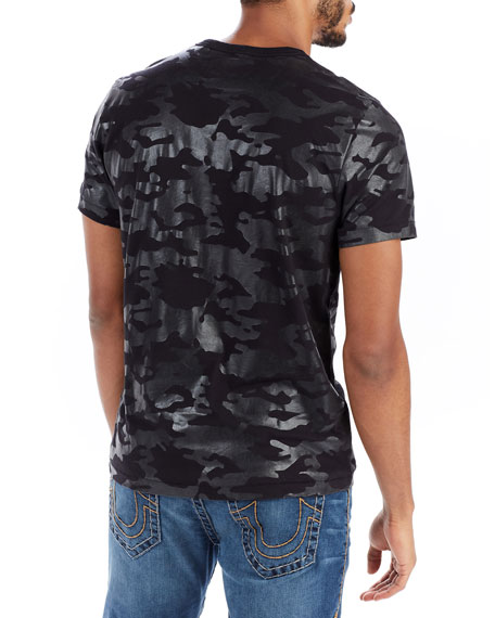 Buddha-Graphic Camouflage T-Shirt