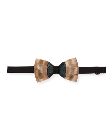 Brackish Bowties Southpaw Feather Formal Bow Tie