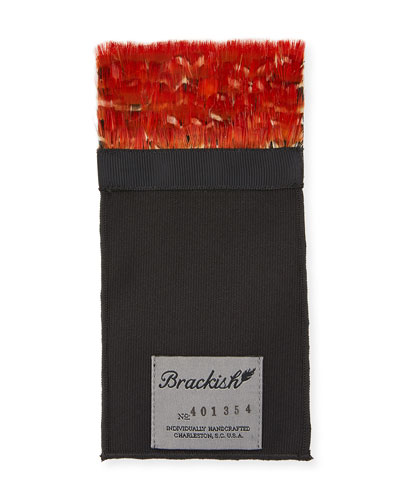 Archibald Lady Amhurst Pheasant Feather Pocket Square