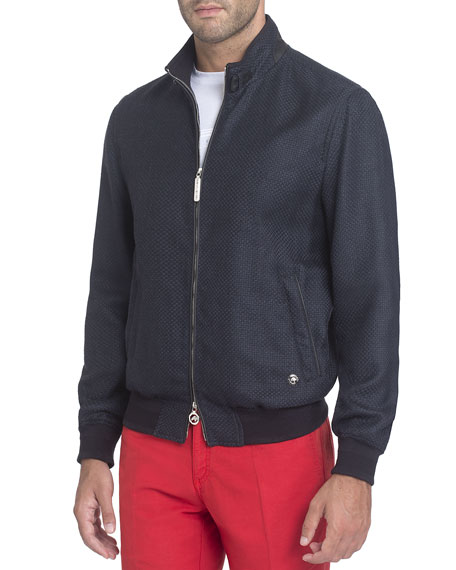 Mock-Neck Bomber Jacket