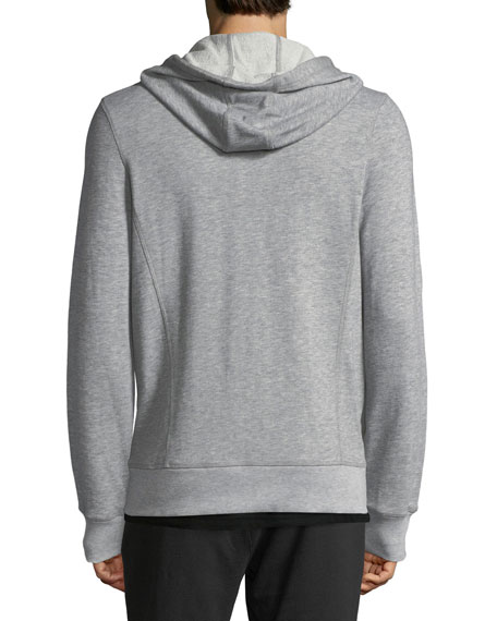 Heathered-Knit Zip-Front Sweatshirt