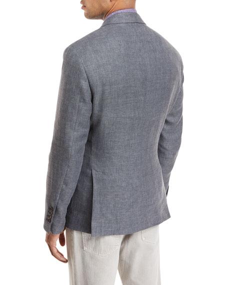 Linen-Blend Hopsack Sport Jacket