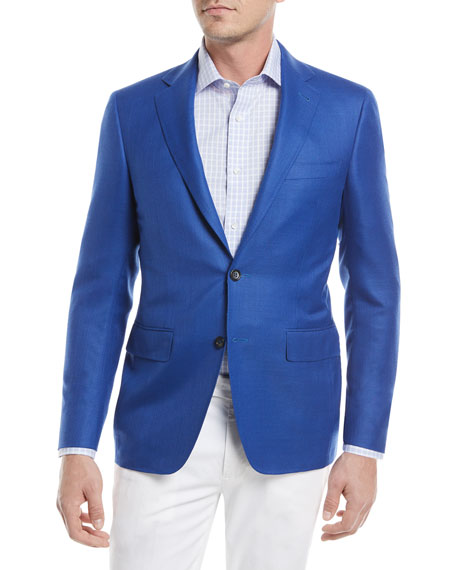 Canali Super 130s Wool Sport Coat, High Blue