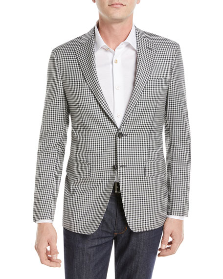 Canali Check Super 130s Wool Blazer