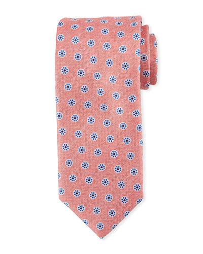 Santa Maria Floral Silk Tie, Pink