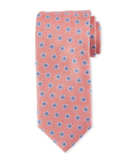 Canali Santa Maria Floral Silk Tie, Pink