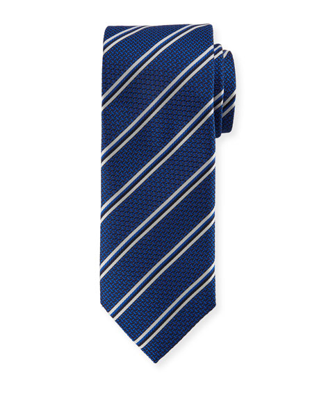 Canali Double-Stripe Silk Tie