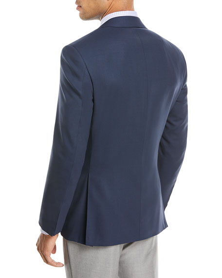 New Basic Hopsack Two-Button Travel Blazer