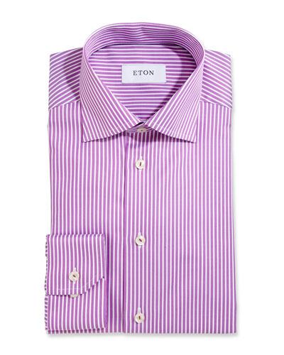 Bold-Stripe Dress Shirt