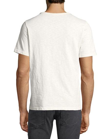 Koi-Print Logo Crewneck T-Shirt