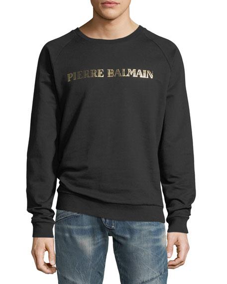 Pierre Balmain Foil-Logo Pullover Sweatshirt
