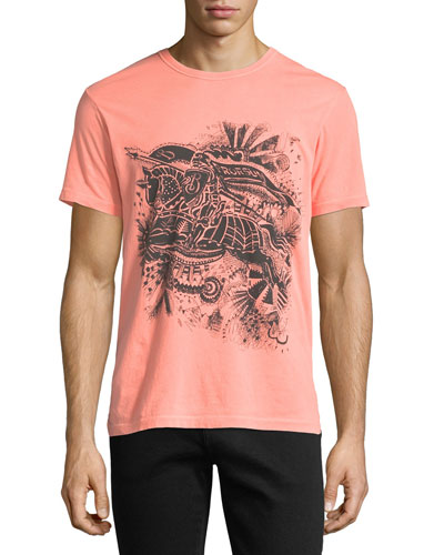 Scribble Graphic Neon T-Shirt