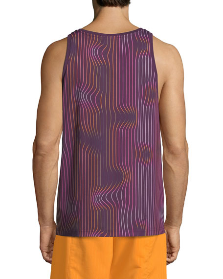 Men's Warped Stripes Tank